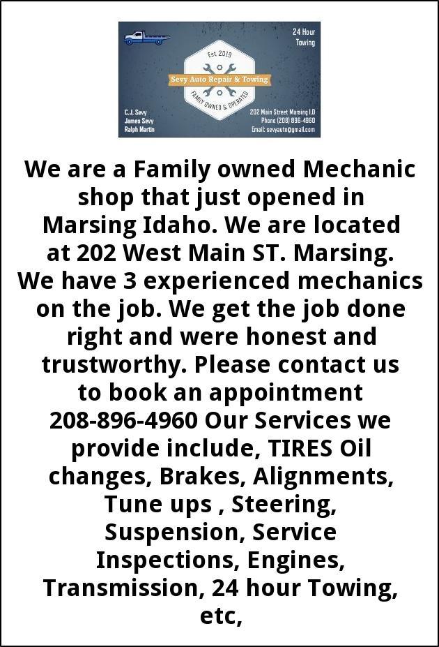 Mechanic Shop