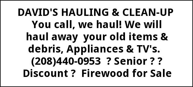 You Call, We Haul!