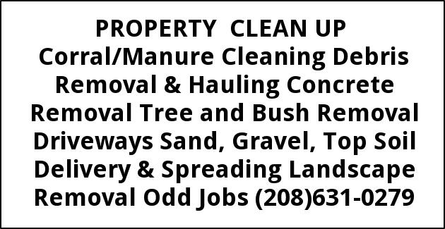 Corral/Manure Cleaning, Debris Removal, Hauling Concrete Removal, Tree and Bush Removal