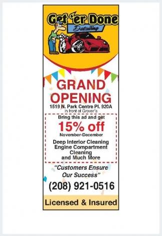 Grand Opening